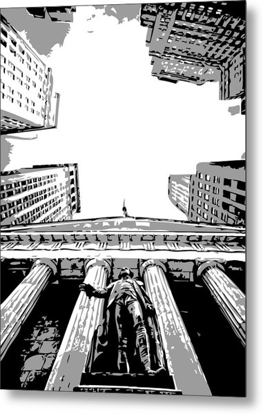 Nyc Looking Up Bw3 Metal Print by Scott Kelley