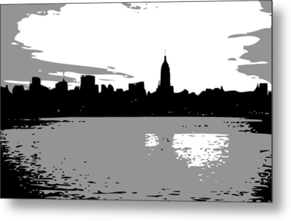 Nyc Morning Bw3 Metal Print