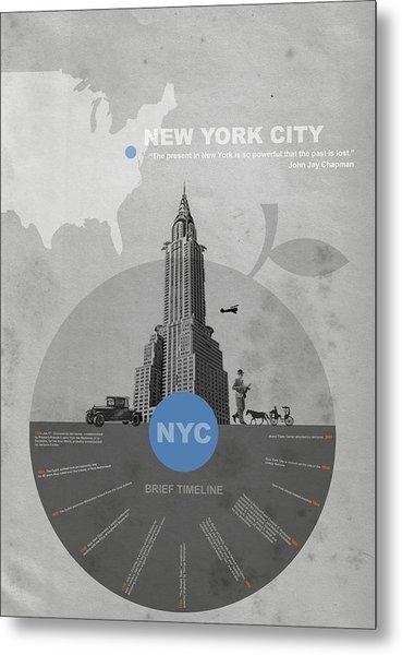 Nyc Poster Metal Print