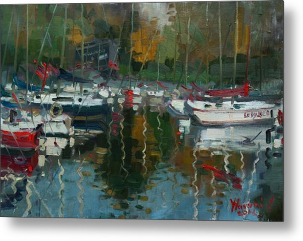Oakville Harbour On Metal Print