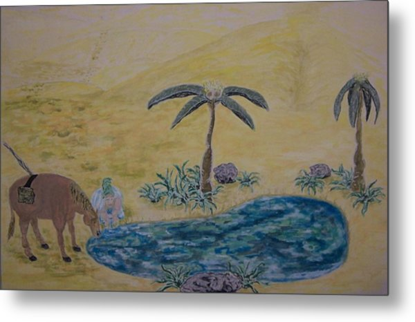 Oasis In The Desert Of My Mind Metal Print by Timothy  Foley