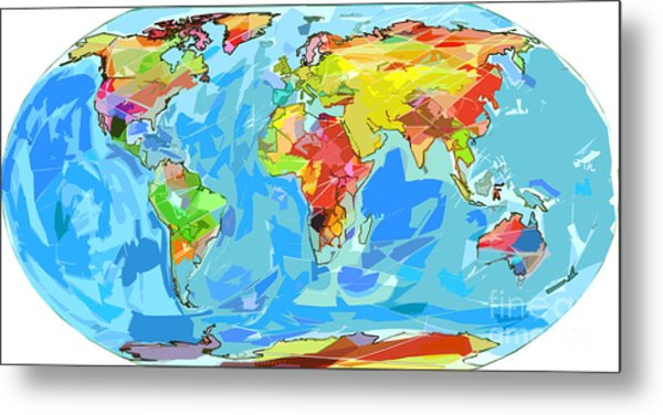 World Map With Currents.Ocean Currents World Map Painting By David Lloyd Glover