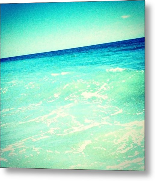 #ocean #plain #myrtlebeach #edit #blue Metal Print