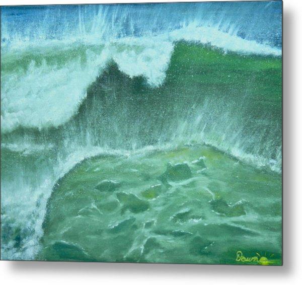 Ocean's Green Metal Print