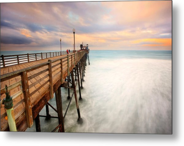 Oceanside Sunset 5 Metal Print
