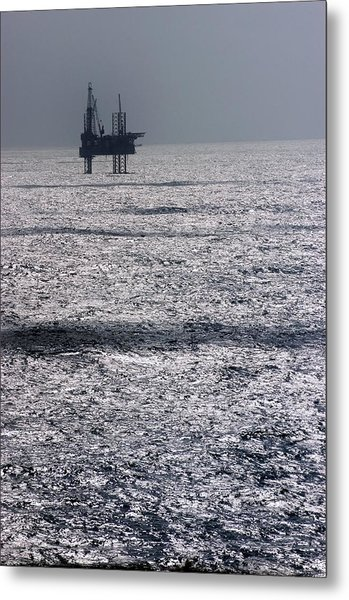 Oil Platform Metal Print by Arno Massee