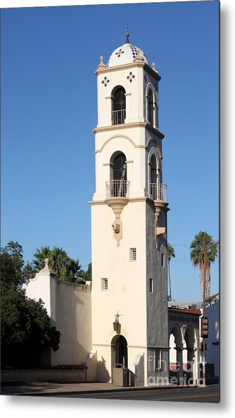 Ojai Post Office Tower Metal Print