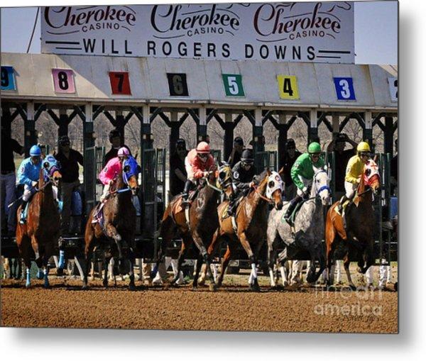 Oklahoma Horse Racing Metal Print