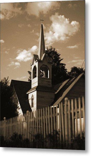 Ol' Church On The Hill Metal Print