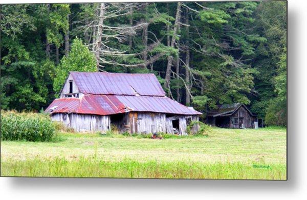 Old Barn Near Cashiers Nc Metal Print