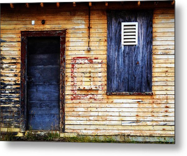 Old Blue Doors Metal Print