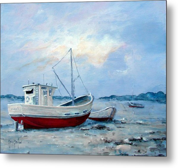 Old Boats On Shore Metal Print