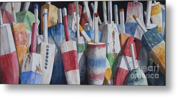 Old Buoy Hangout  Sold Printa Available Metal Print