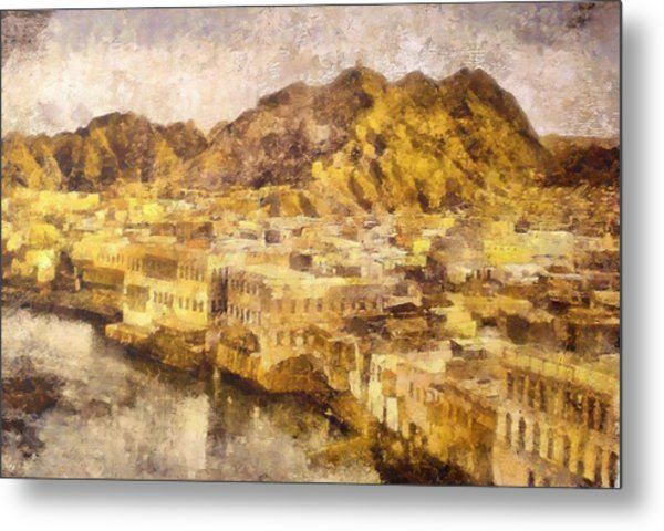 Old City Of Muscat Metal Print