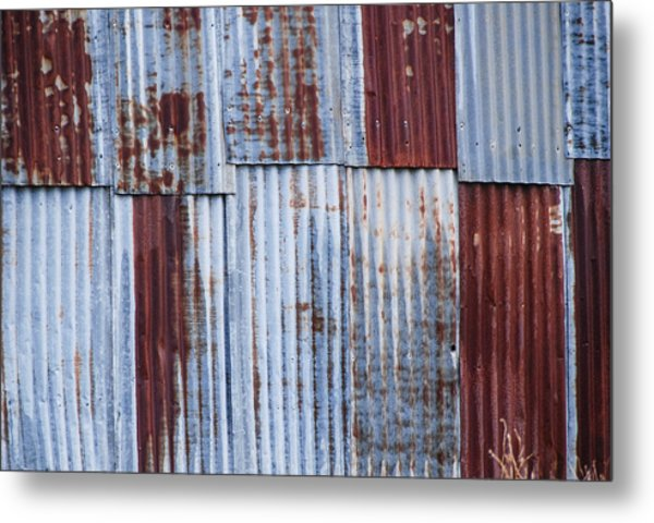 Old Corrugated Iron Metal Print