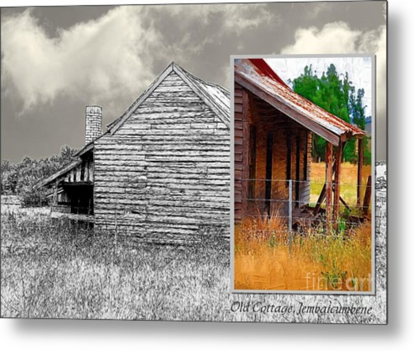 Old Cottage Diptych 2 Metal Print