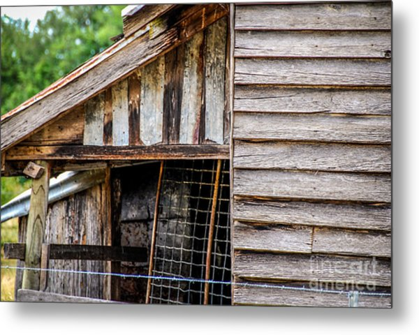 Old Cottage Wall 1 Metal Print