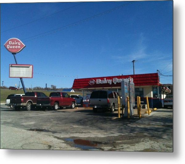 Old Dairy Queen In Azle Texas Metal Print by Shawn Hughes