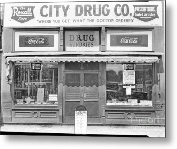 Old Drug Store Circa 1930 Metal Print