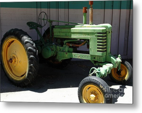 Old Farm Tractor . 5d16614 Metal Print by Wingsdomain Art and Photography