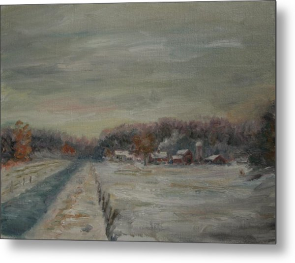 Old Farms Winter Avon Metal Print