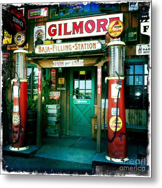 Old Fashioned Filling Station Metal Print