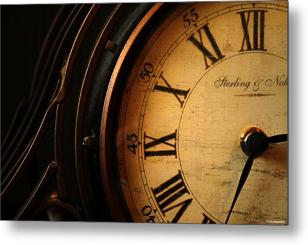 Old Fashioned Mantle Clock Metal Print