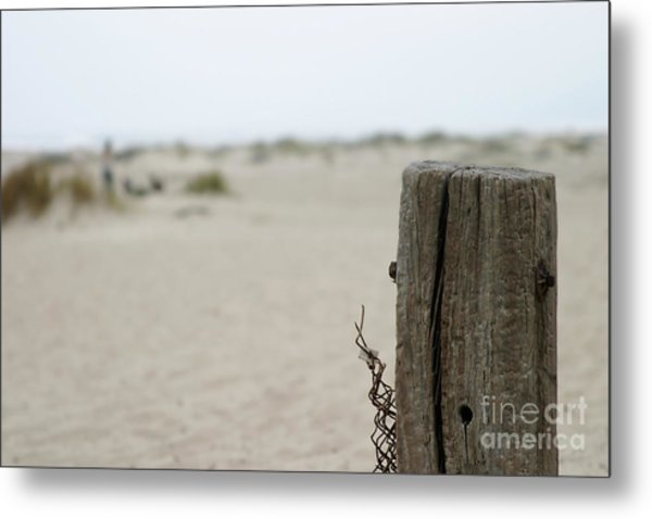 Old Fence Pole Metal Print