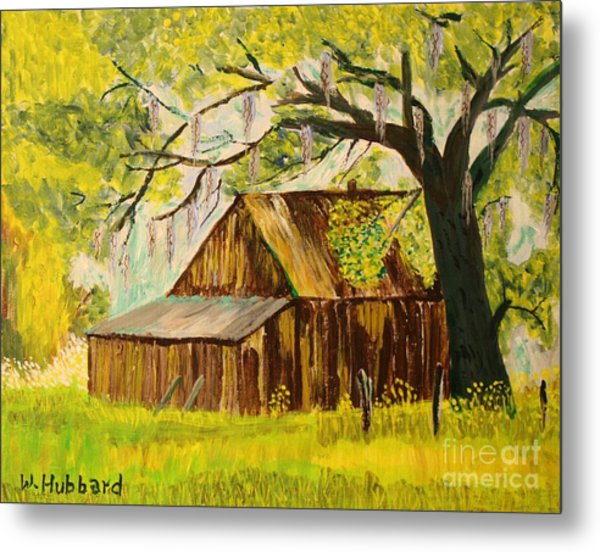 Old Florida Farm Shed Metal Print