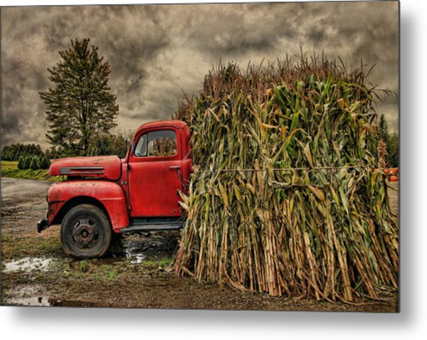 Old Ford Truck Metal Print by Pat Abbott