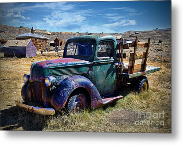 Old Ford V8 Truck Metal Print