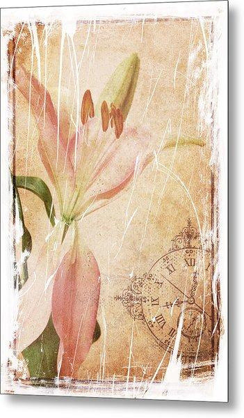 Old Greating Card Metal Print by Rozalia Toth