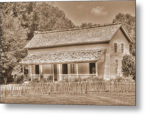 Old House In The Cove Metal Print by Barry Jones