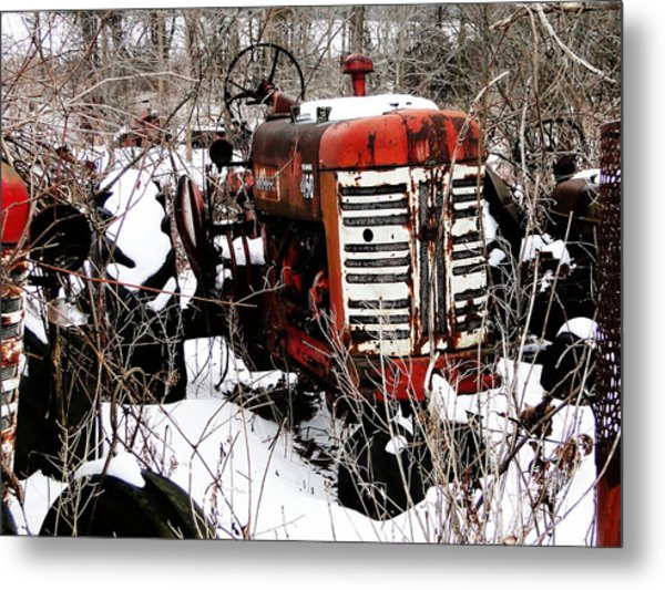 Old International Harvester Tractor Metal Print