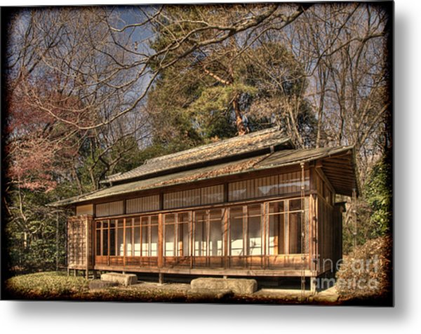 Old Japanese House In Autum Metal Print