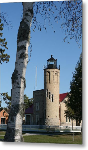 Old Mackinac Point Lighthouse Metal Print by Brady D Hebert