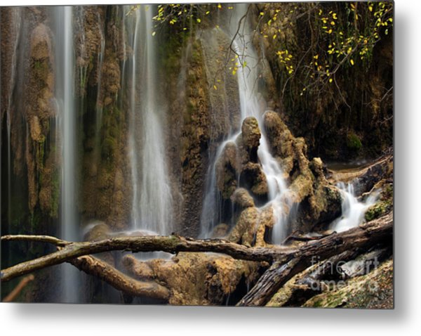 Old Man In The Falls Metal Print