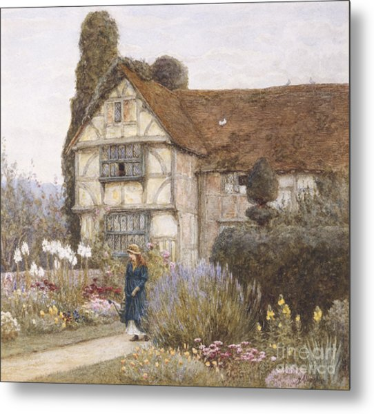 Old Manor House Metal Print