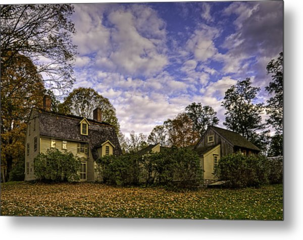 Old Manse In Autumn Glory Metal Print
