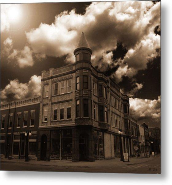 Old Menominee Corner Store Building Metal Print
