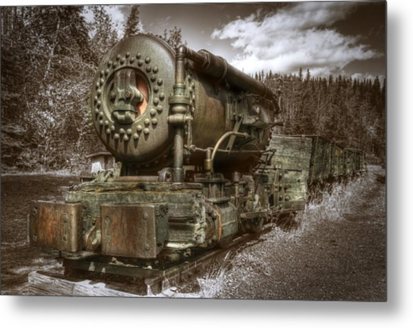 Old Mine Train Banff Metal Print