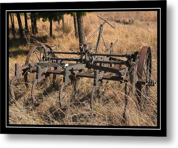 Old Plough Metal Print by Miguel Capelo