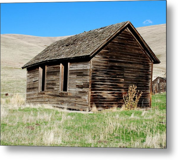 Old Ranch Hand Cabin Metal Print