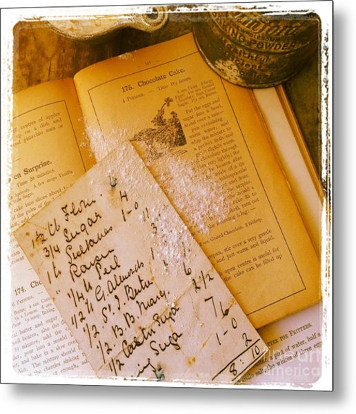 Old Recipes Metal Print by Ruby Hummersmith