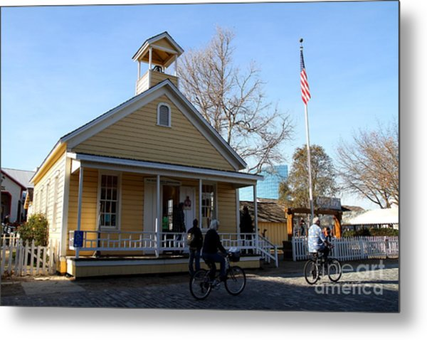 Old Sacramento California . Schoolhouse Museum . 7d11578 Metal Print by Wingsdomain Art and Photography
