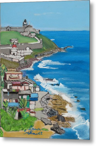 Old San Juan Seacoast In Puerto Rico Metal Print