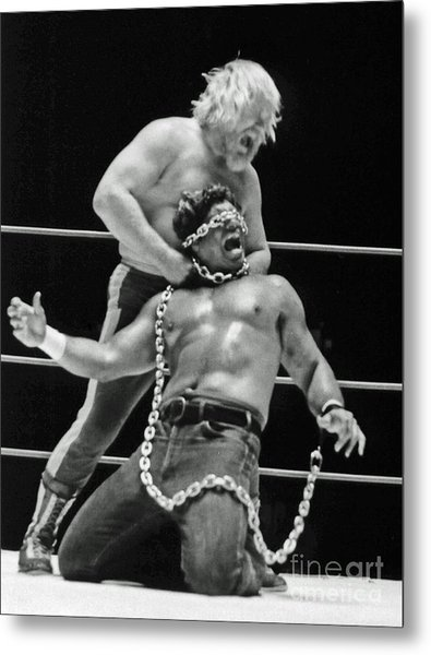 Old School Wrestling Chain Match Between Moondog Mayne And Don Muraco Metal Print