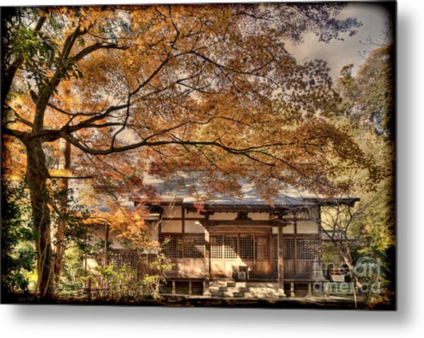 Old Shrine In Autum Metal Print
