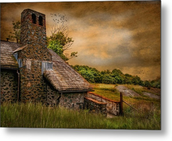 Old Stone Countryside Metal Print by Robin-Lee Vieira