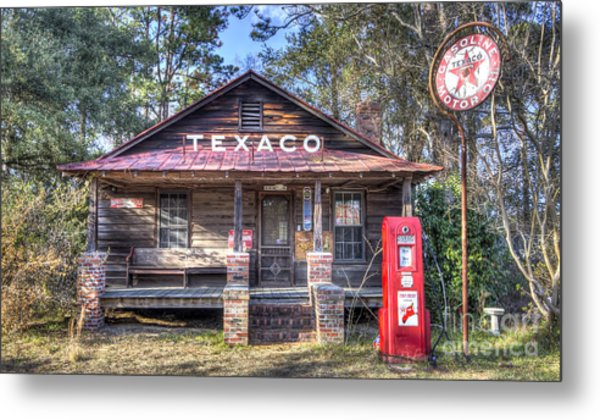 Old Texaco Service Station Metal Print